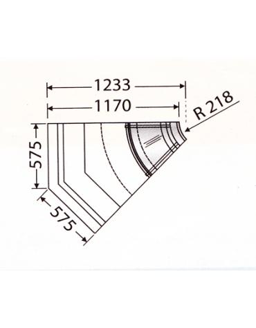 Banco statico VCP - Angolo 45° interno