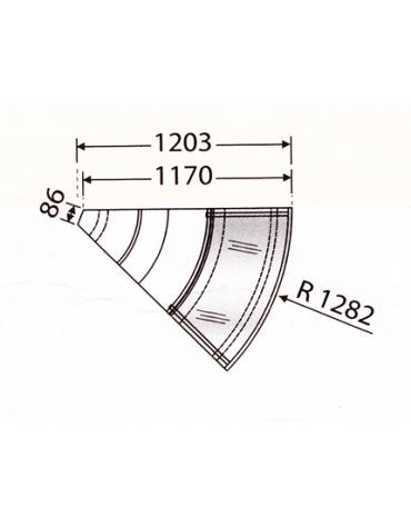 Banco statico VCP - Angolo 45° esterno