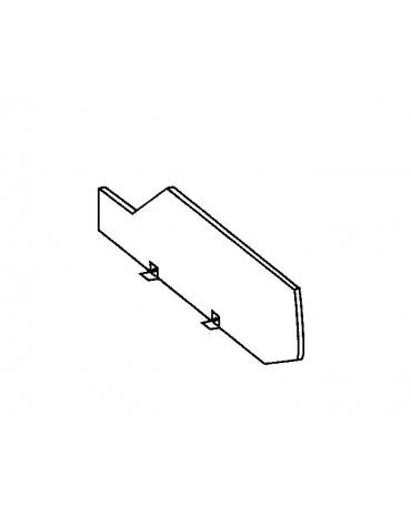 Divisorio mobile con vetro con sostegni