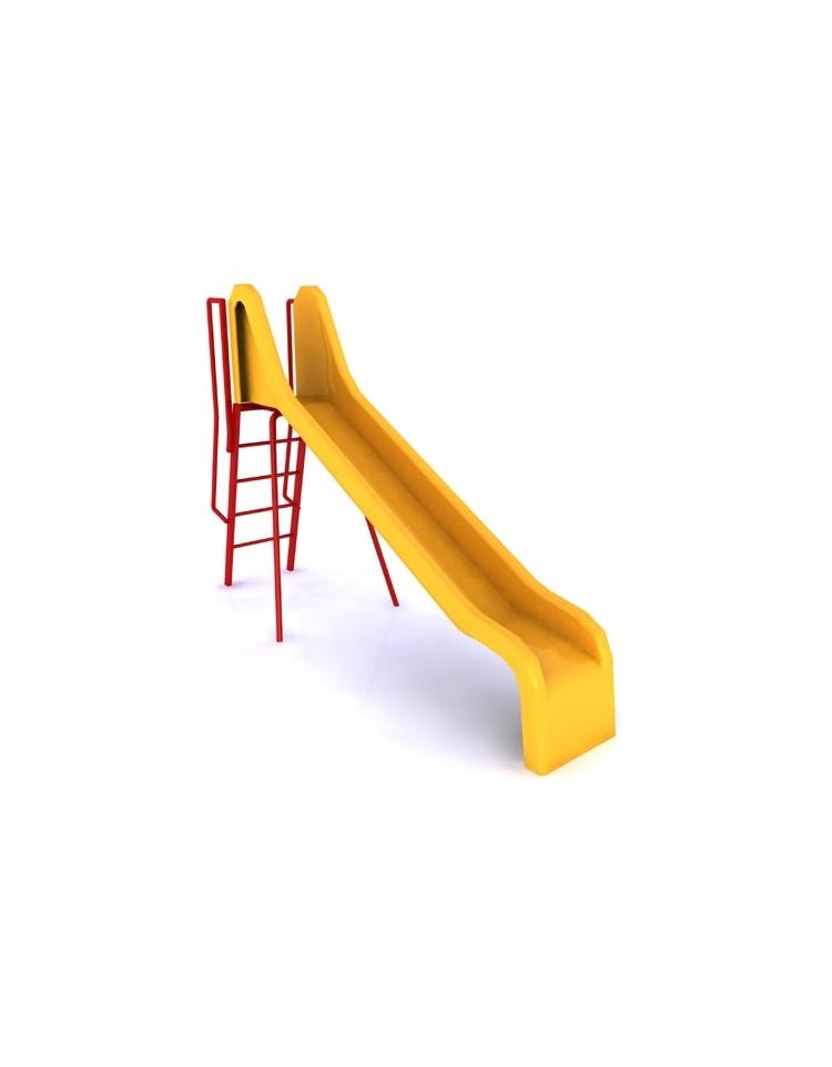 Scivolo in resina per bambini da giardino lunghezza cm 300 altezza di caduta cm 134 for Scivolo per bambini usato