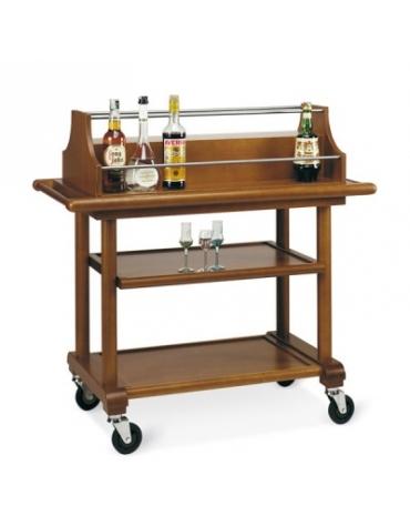 Carrello in legno portabottiglie- 3 piani - Dimensioni cm 107x55