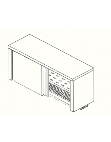 Armadietto pensile-Ripiani asolati e scolapiatti-cm. 170x40x60h