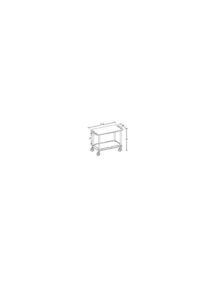 Carrello in legno 2 piani dimensioni cm 110x56x81h for 2500 piani quadrati di 2 piani