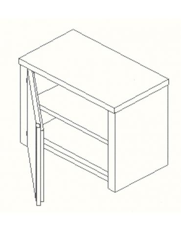 Armadietto pensile inox - Anta a battente - cm 60x40x60h