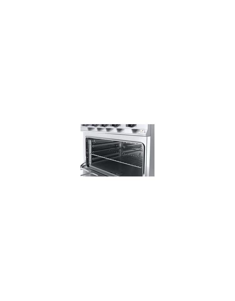 Cucina a gas 4 fuochi media potenza con forno a gas gn 2 1 - Manutenzione cucina a gas ...
