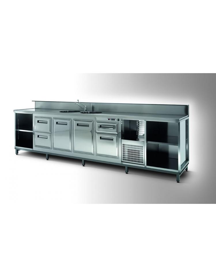 Banco bar refrigerato 2 sportelli motore esterno da cm 100 con motore remoto banchi bar - Sportelli cucina grezzi ...