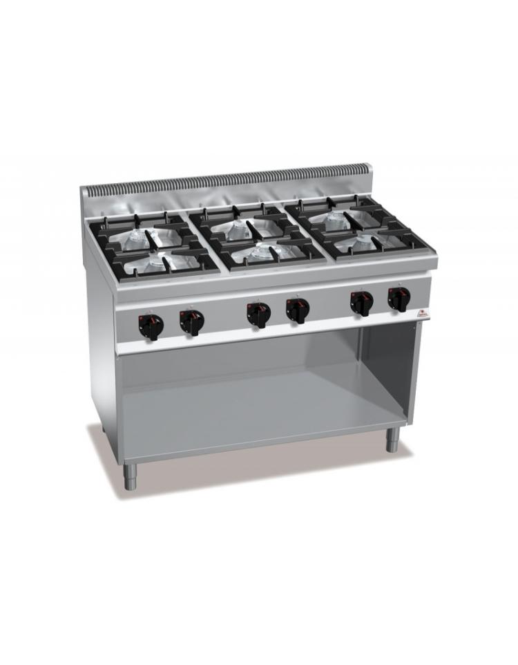 Cucina per ristorante professionale industriale a gas 6 fuochi -ALTA ...
