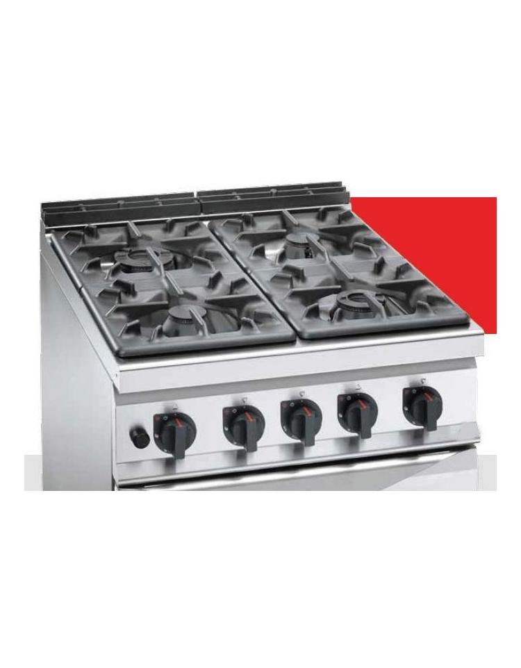 Cucina A Gas 6 Fuochi Alta Potenza Con Forno A Gas Gn 2 1