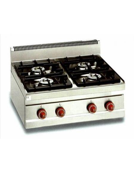 cucina a gas da appoggio 4 fuochi alta potenza - profondita' cm 70 ... - Cucina Quattro Fuochi