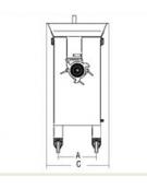 Tritacarne verticale attacco 32 - Hp 4
