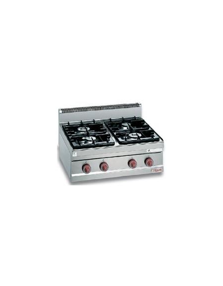 Cucine Usate Potenza.Cucina A Gas Da Appoggio A Banco Per Ristorante 4 Fuochi Media Potenza Cm 80x70x29h