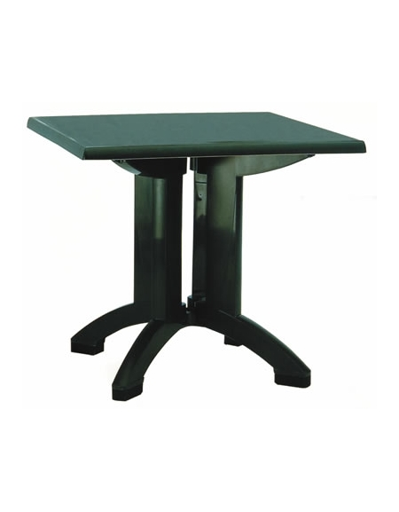 Tavolo In Resina Vega Cm 80x80 Colore Verde Mogano O Blu Sedie E Tavoli Per Bar O Ristoranti Linea Contract Sedie In Resina