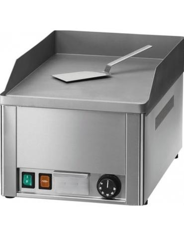 Fry top elettrico da banco professionale - Singolo - Piastra liscia - Monofase - cm 33,5x57x30h