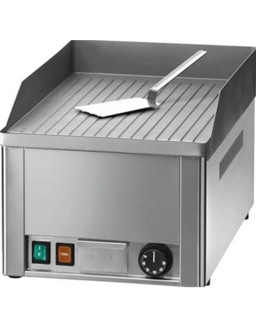 Fry top elettrico da banco professionale - Singolo - Piastra rigata - Monofase - cm 33,5x57x30h