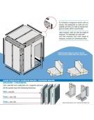Cella frigorifera modulare industriale da cm. 734x174x254h