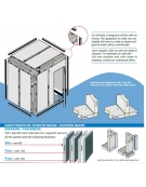 Cella frigorifera modulare industriale da cm. 734x294x254h
