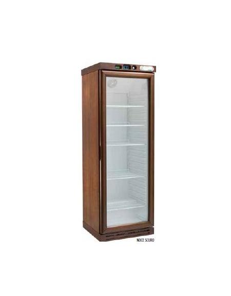 Cantinetta per vini refrigerata 1 porta cm 64x61x186h colori noce scuro noce chiaro o - Porte noce chiaro ...