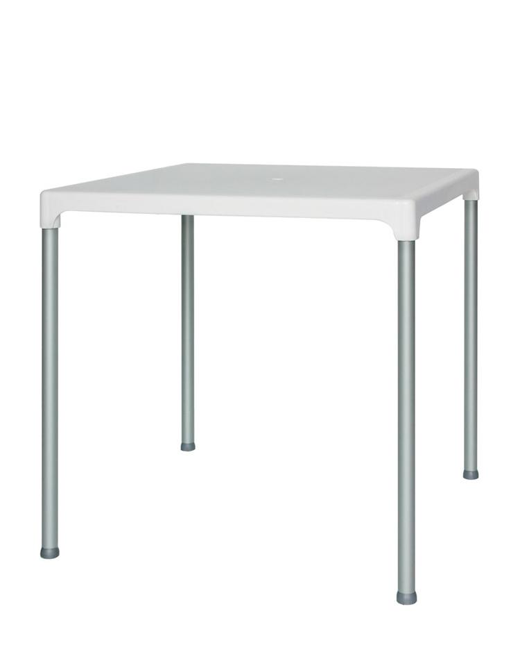 Tavolo con 4 gambe in alluminio e piano in polietilene cm for Tavolo in alluminio