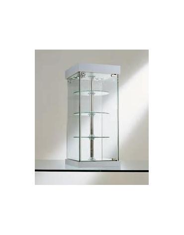 Vetrina da banco- Ripiani girevoli-dimensioni cm. 31x31x74h