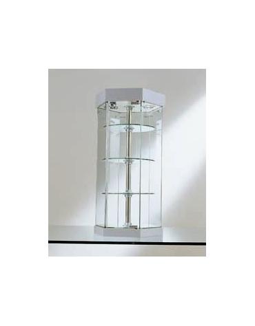Vetrina da banco- Ripiani girevoli-dimensioni cm. Ø36x74h