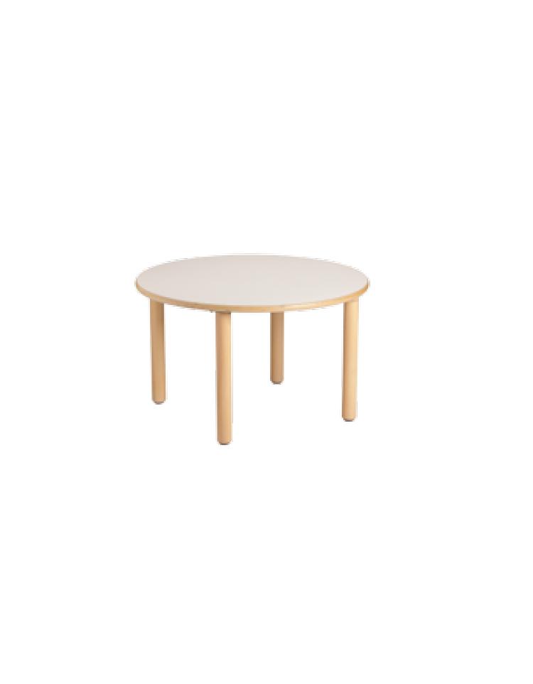 Tavolo rotondo piano latte in legno diam cm 90x53h - Tavolo rotondo in legno ...