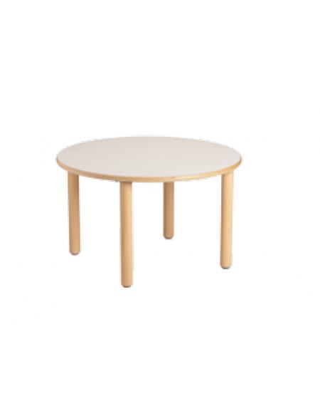 Tavolo rotondo piano latte in legno diam cm 90x59h - Tavolo rotondo in legno ...