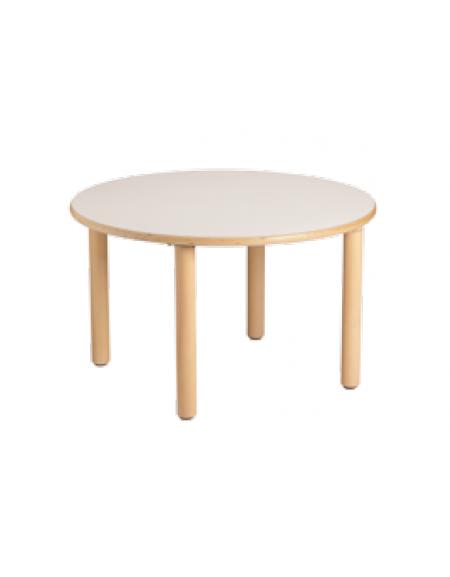 Tavolo rotondo piano latte in legno diam cm 128x40h - Tavolo rotondo in legno ...