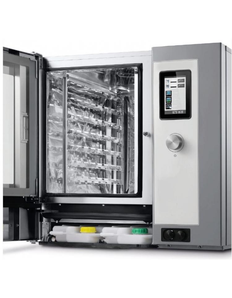 Forno a convezione ventilato professionale a gas 10 teglie gn 1 1 comandi touch screen con - Forno incasso a gas ventilato ...