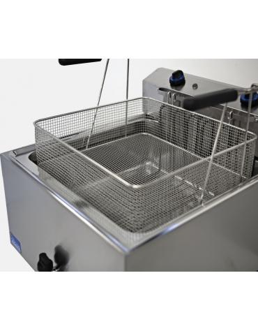 Friggitrice elettrica con cesto grande per pasticceria Lt 25 - Cestello cm 48x45x12,5h