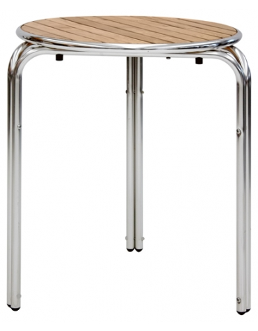 Tavolo quadrato cm 80x80 bar alluminio impilabile doppia for Tavolo rotondo 70 cm