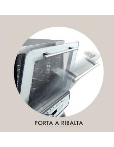 Forno professionale elettrico con umidificatore N° 4 Teglie GN 1/1 - Comandi touch screen