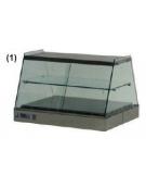 Vetrina calda da banco vetri dritti cm. 140x63x55h