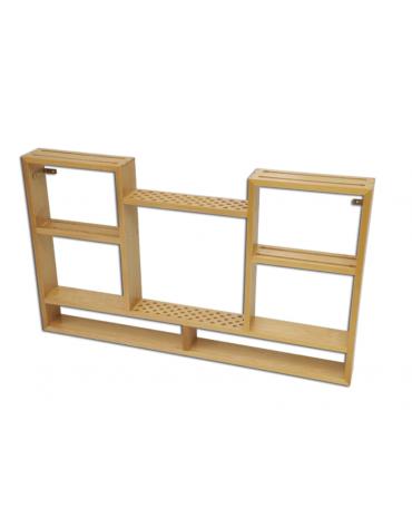 Mobile porta attrezzi ginnici in legno verniciato, da fissare a muro