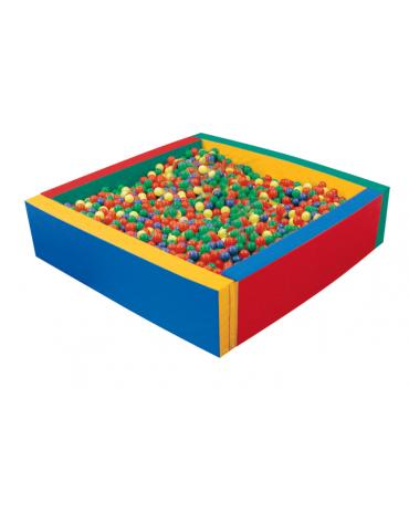 Piscina quadrata con elementi accostabili mediante velcro (palline escluse), cm200x200x50h