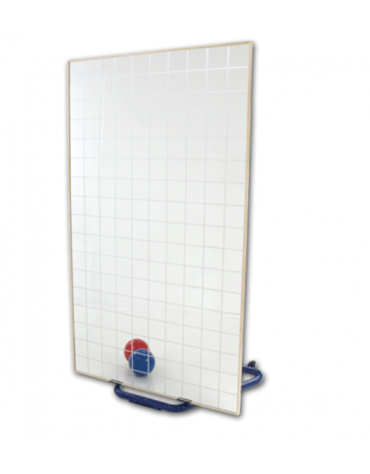Specchio quadrettato di cristallo temperato con reticolo cm 10x10 -  cm 100x170h