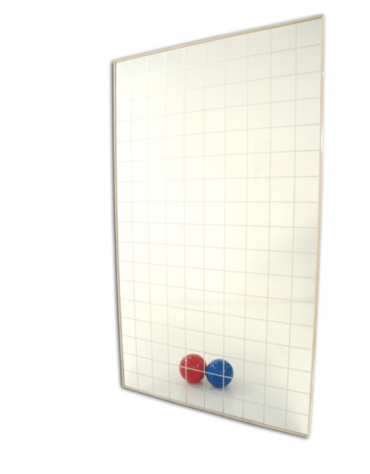 Specchio quadrettato di cristallo temperato con reticolo cm 10x10 - dimensioni a richiesta. Prezzo al mq