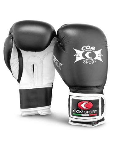 Paio guanti boxe pelle sintetica (8-10-12 once)
