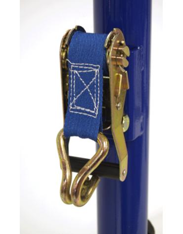 Dispositivo tendirete in acciaio di ricambio per pali tennis