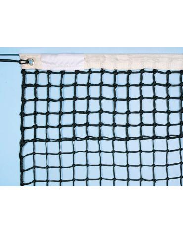 Rete tennis in nylon Super Torneo diametro mm 3, con maglie superiori doppie