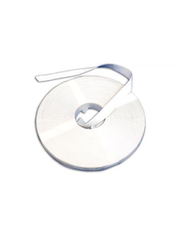 Fettuccia segna campo tennis in rotoli da mt 150, larghezza cm 5, colore bianco. Prezzo al mt