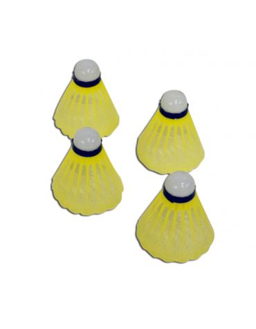 Volano in nylon per badminton , in confezione da 12 pezzi