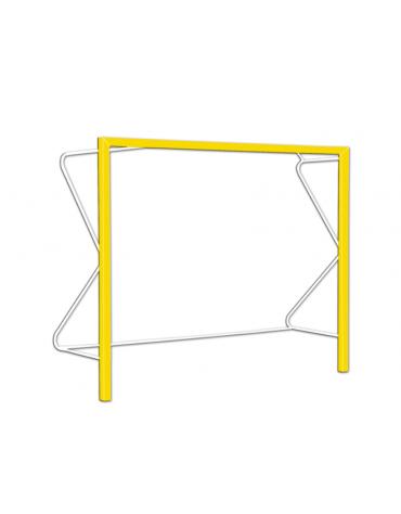 Coppia porte beach handball in alluminio verniciato, dimensioni cm 300x200