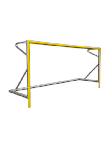Coppia porte beach soccer in alluminio verniciato, dimensioni interne cm 550x220