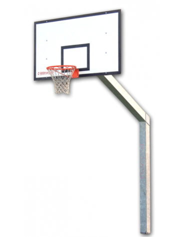 Struttura streetball monotubolare di acciaio zincato, sbalzo cm 225