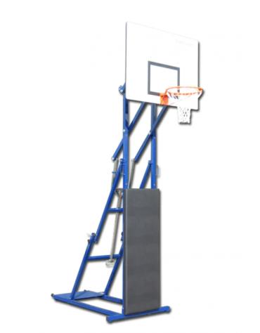 Struttura streetball con sistema meccanico di regolazione dell'altezza, pieghevole in acciaio