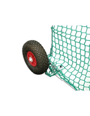 Coppia ruote gommate per trasporto porte hockey su prato