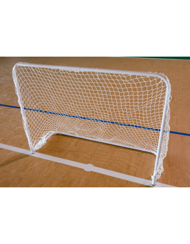Coppia porte  in acciaio verniciato unihockey con reti di nylon, dimensioni cm 150x110