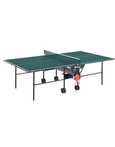 Tavolo tennis per interno pieghevole e mobile su ruote. Fornito in scatola di montaggio con istruzioni.