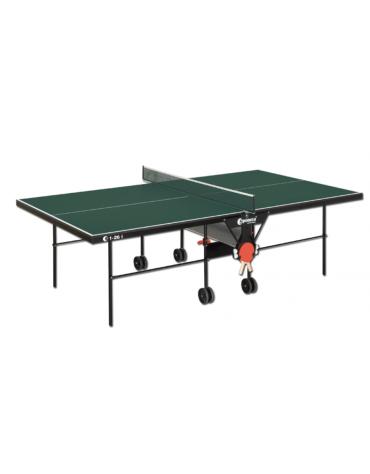 Tavolo tennis per interno pieghevole e mobile su ruote, telaio di supporto rinforzato
