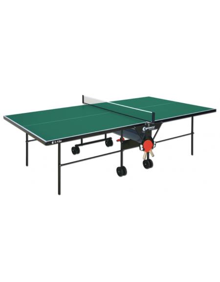 Tavolo tennis per esterno pieghevole e mobile su ruote. Fornito in scatola di montaggio con istruzioni